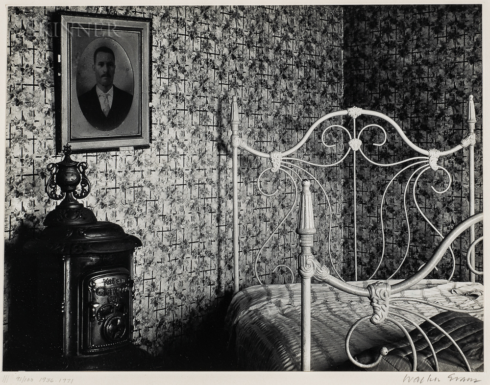 Walker Evans (American, 1903-1975)      Bed and Stove, Truro, Massachusetts