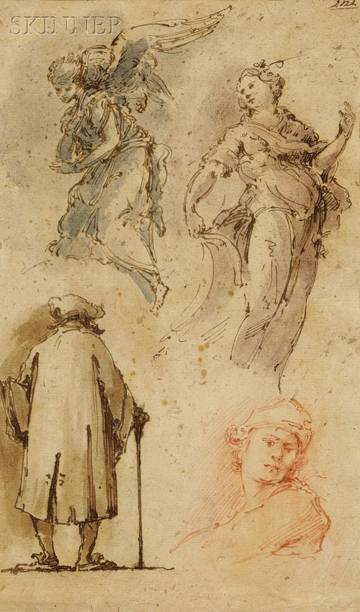 Continental School, 17th/18th Century Style      Figure Studies