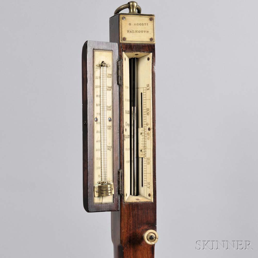 G. Agosti Mercury Stick Barometer