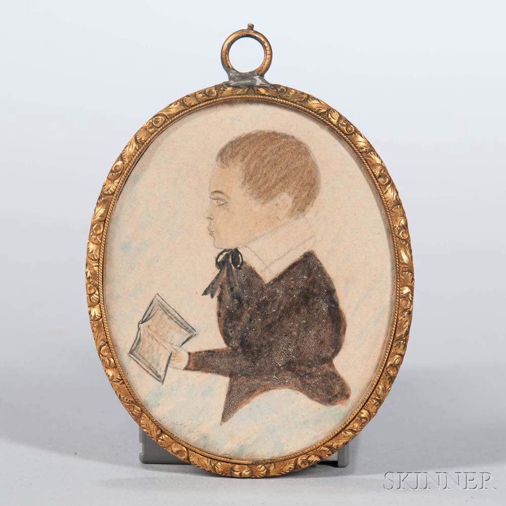 American School, 19th Century      Miniature Portrait of Francis Jackson Ward