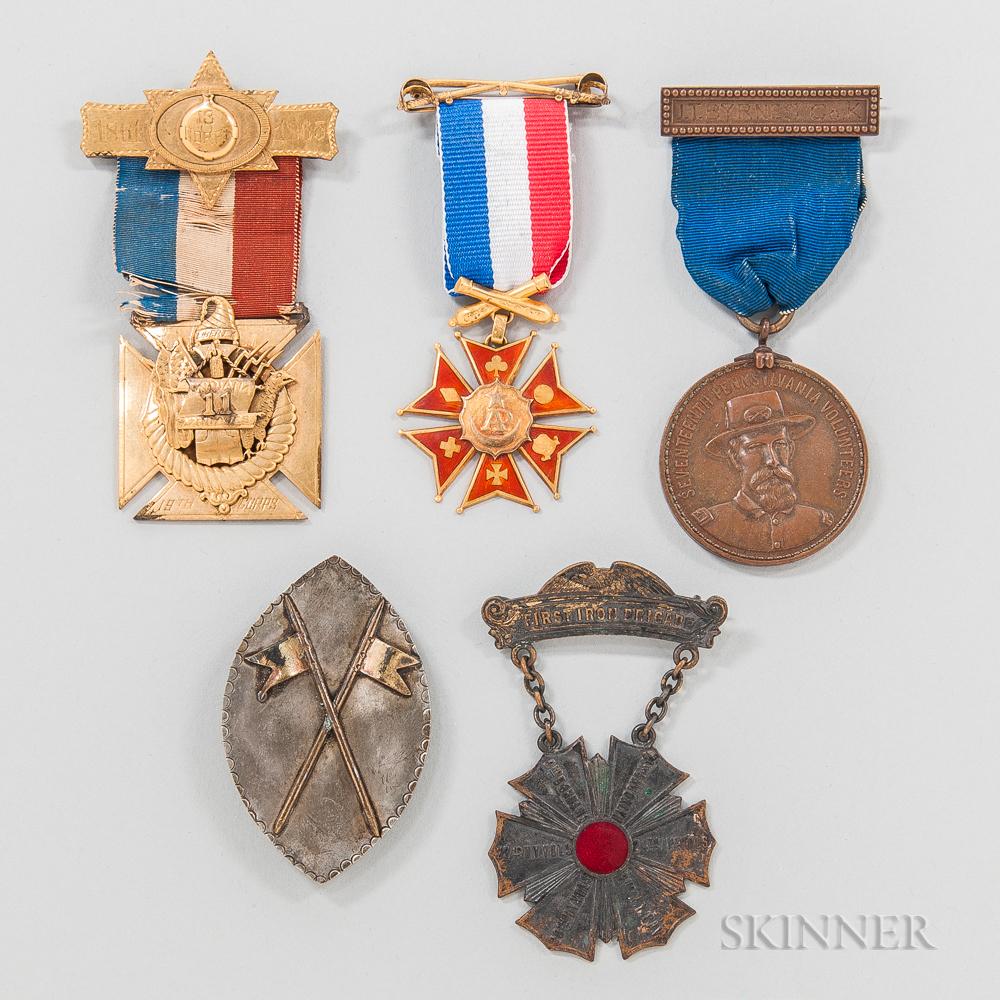 Five Civil War Veterans' Medals