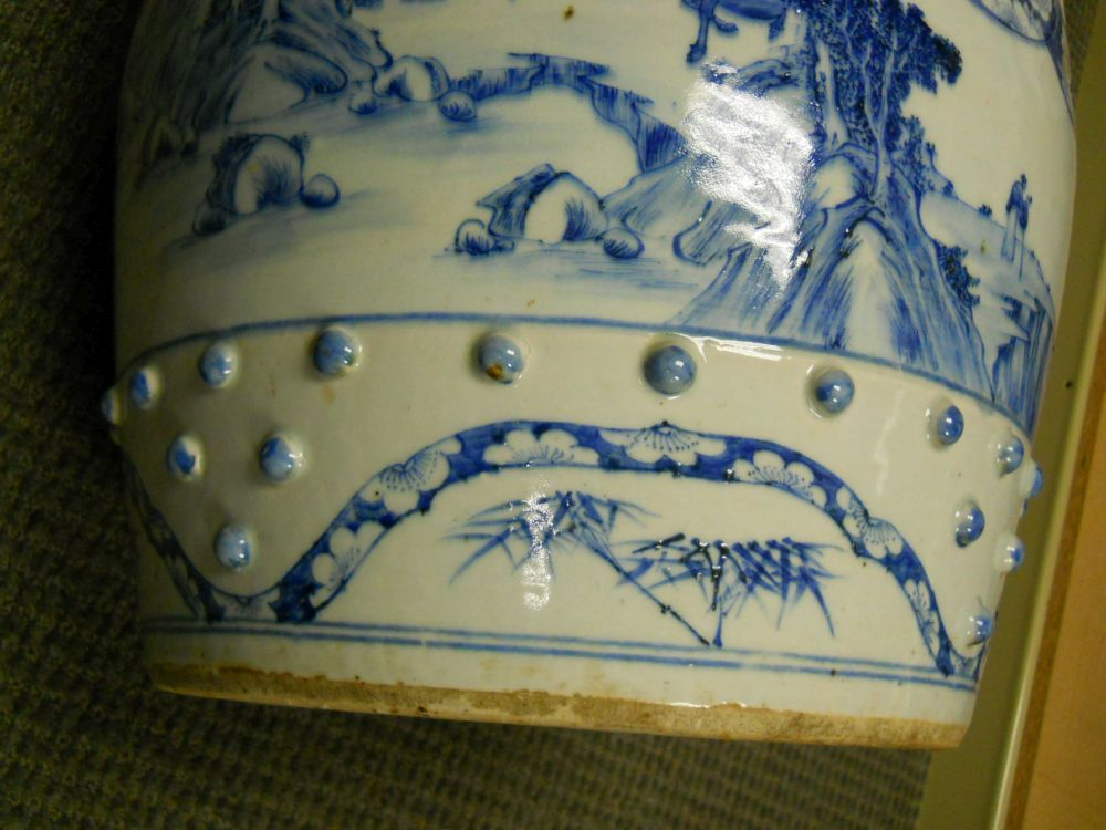 Blue and White Porcelain Garden Seat
