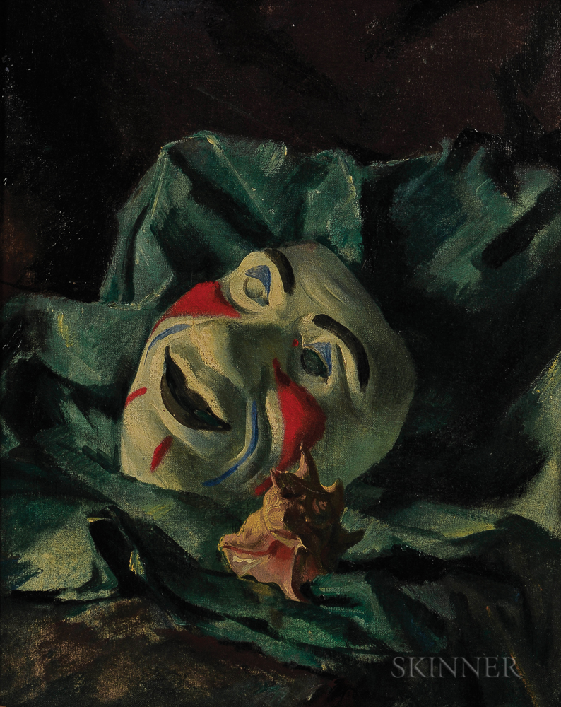 Alexandre Jacovleff (Russian, 1887-1938)      Still Life with Mask and Shell