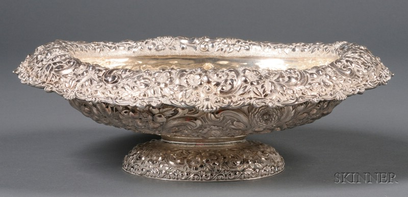 Dominick & Haff Sterling Repousse Oval Fruit Bowl