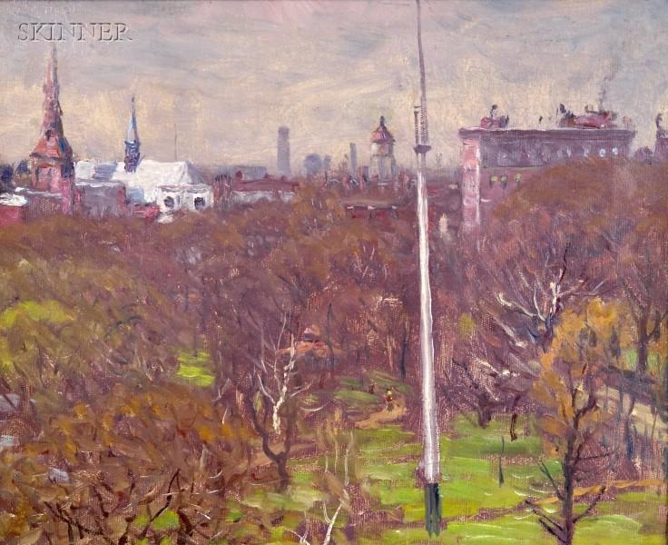 John Joseph Enneking (American, 1841-1916)      Boston Common