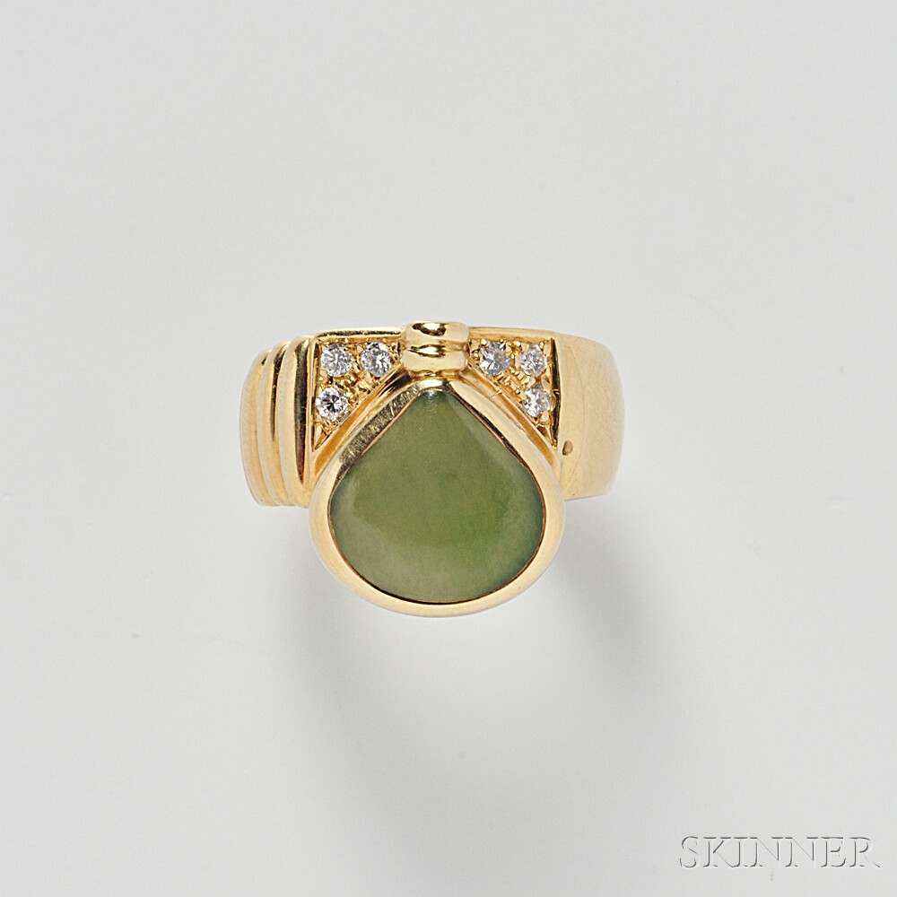 18kt Gold and Nephrite Ring, Manfredi
