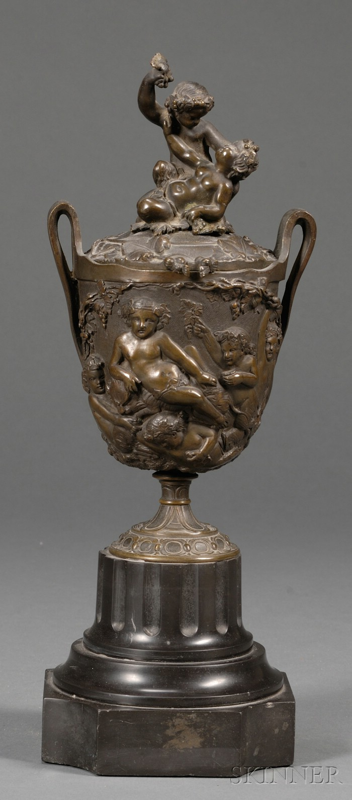 Grand Tour Bronze Covered Cup