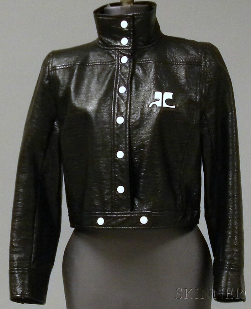 Vintage Courrèges Paris Faux-leather Cropped Jacket