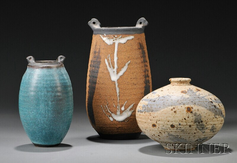 Three Vivika & Otto Heino Pottery Vessels
