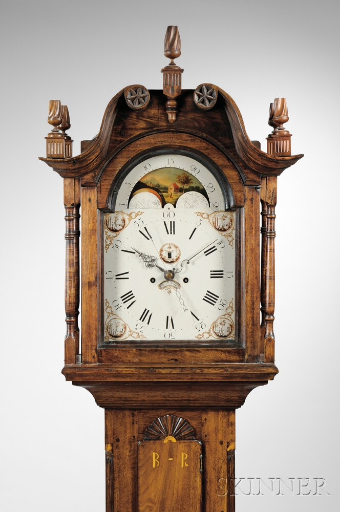 Pennsylvania Walnut Inlaid Tall Clock