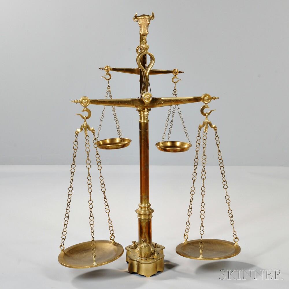 Brass Double Balance Scale
