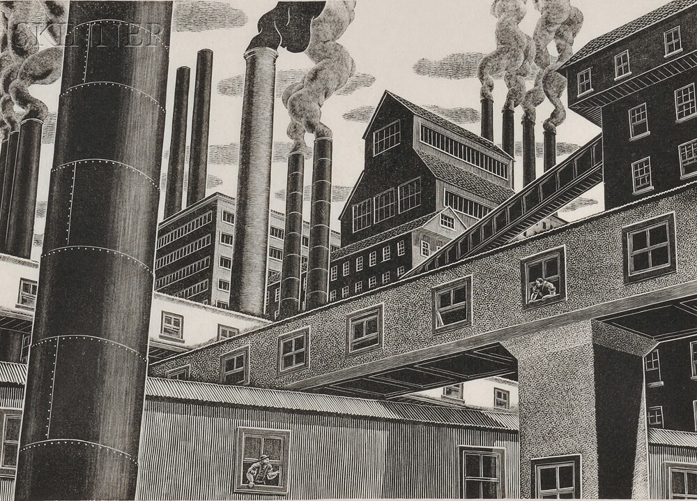 Salvatore Pinto (Italian/American, 1905-1966)      Factory View.