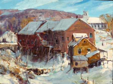 Jay Hall Connaway (American, 1893-1970)    Pawlet Houses - Winter