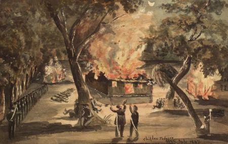 Henry Schreiner Stellwagen (American, d. 1866)    Six Watercolor Views.