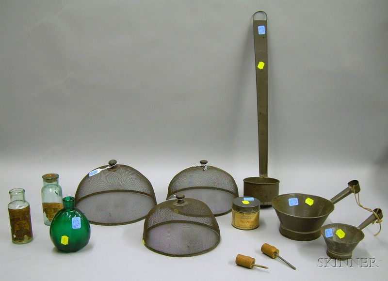 Group of Shaker and Country Tin and Glass Items