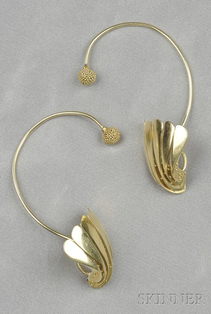 18kt Gold Earrings, John Paul Miller