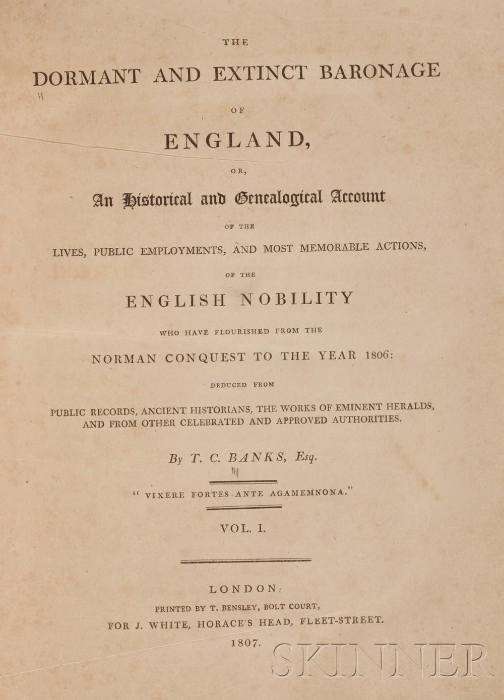 (Heraldry and Peerage), Banks, Thomas Christopher (1765-1854)
