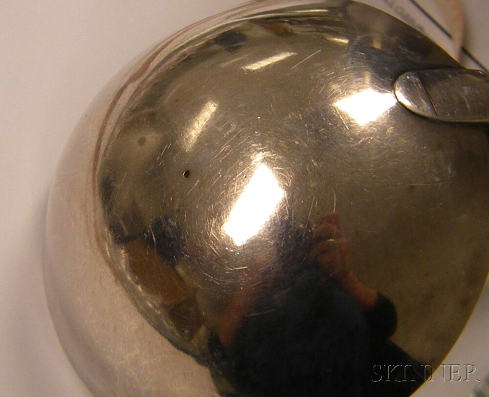 Amos Pangborn Coin Silver Punch Ladle