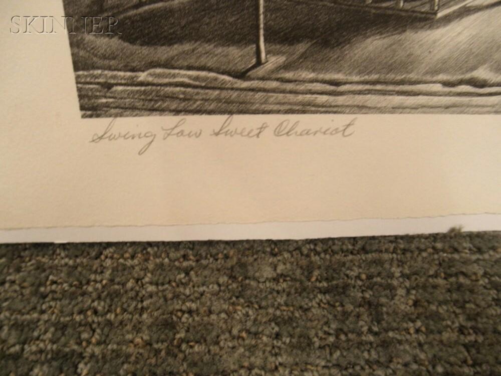 John McCrady (American, 1911-1968)      Swing Low, Sweet Chariot