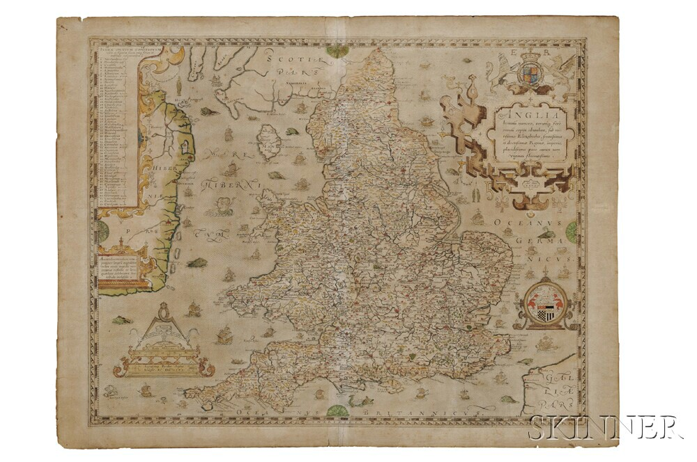England and Wales. Christopher Saxton (c.1540-c.1610) Anglia