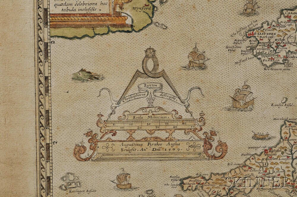 England and Wales. Christopher Saxton (c.1540-c.1610) Anglia