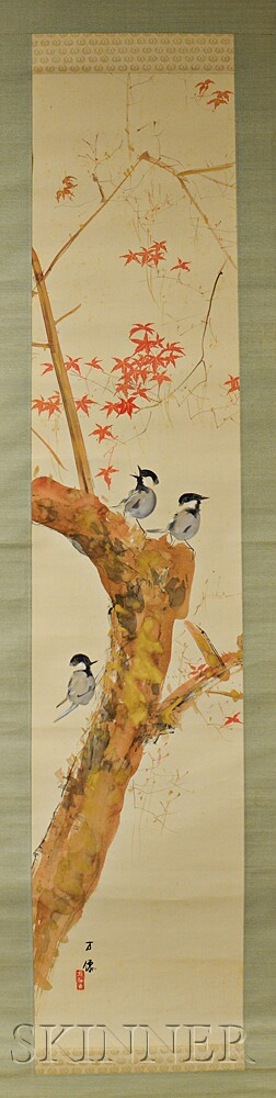 Hanging Scroll Depicting Birds