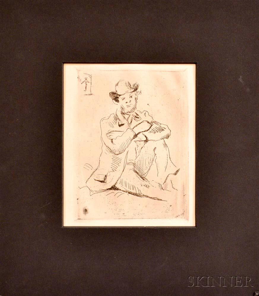 Paul Cezanne (French, 1893-1906)      Portrait du Peintre A. Guillaumin au Pendu
