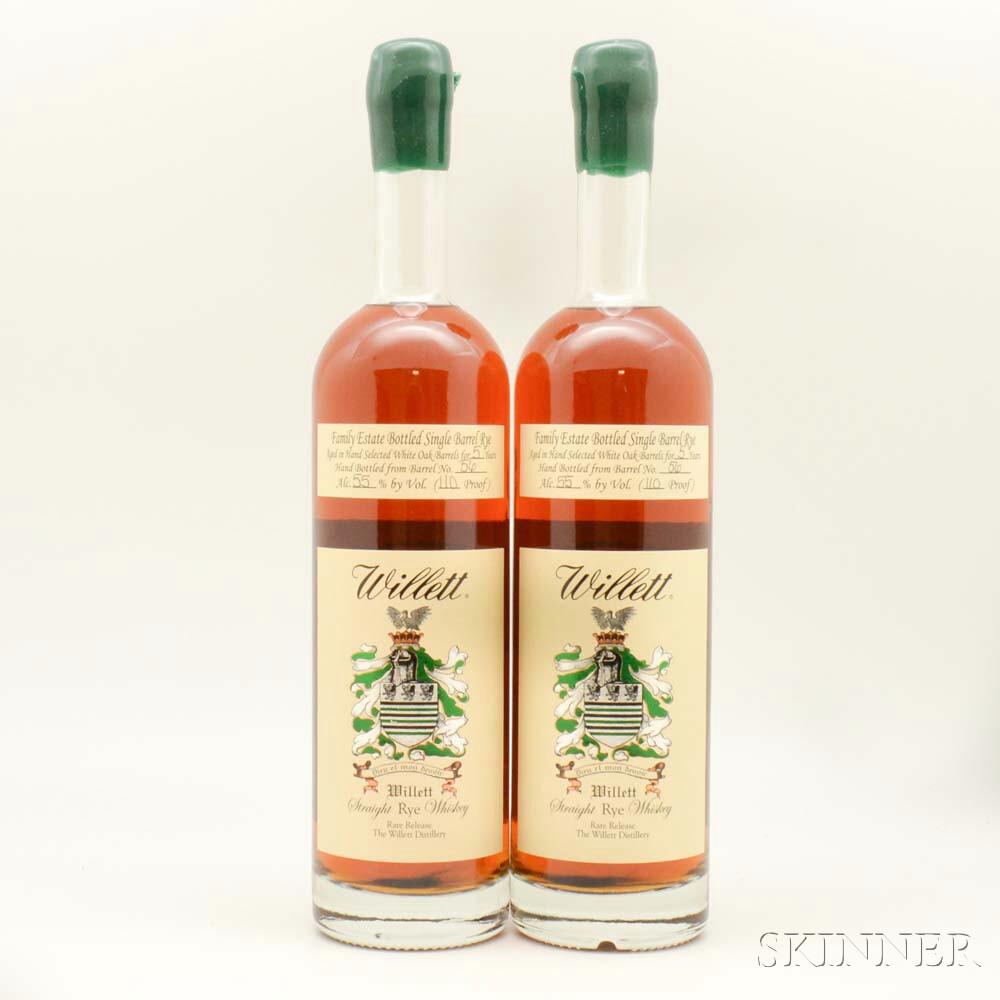 Willett Rye 5 Years Old, 2 750ml bottles