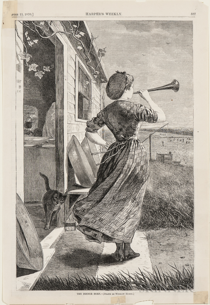 Homer, Winslow (1836-1910) Fifteen Wood Engravings from Harper's  , 1870s.