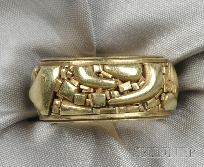 """18kt Gold """"Fragment"""" Band, John Paul Miller"""
