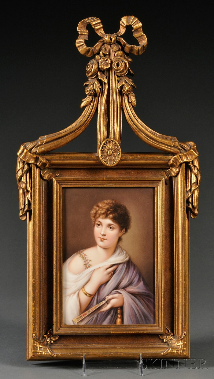 KPM Porcelain Portrait Plaque