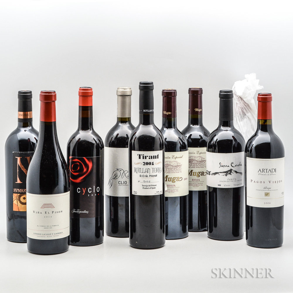 Mixed Spanish Wines, 10 bottles