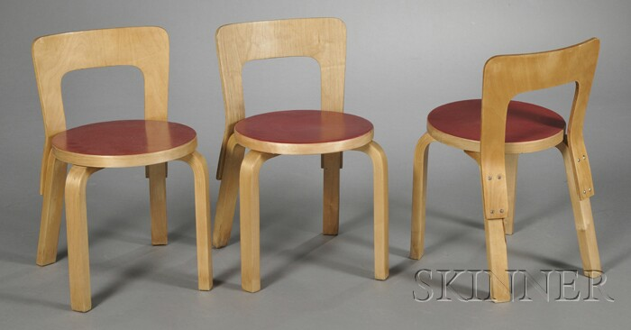 Three Alvar Aalto Children's Chairs