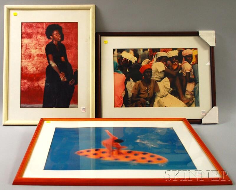 Syndey Byrd (American, b. 1944)      Three Framed Photographs:   Voodoo Trance, Haiti