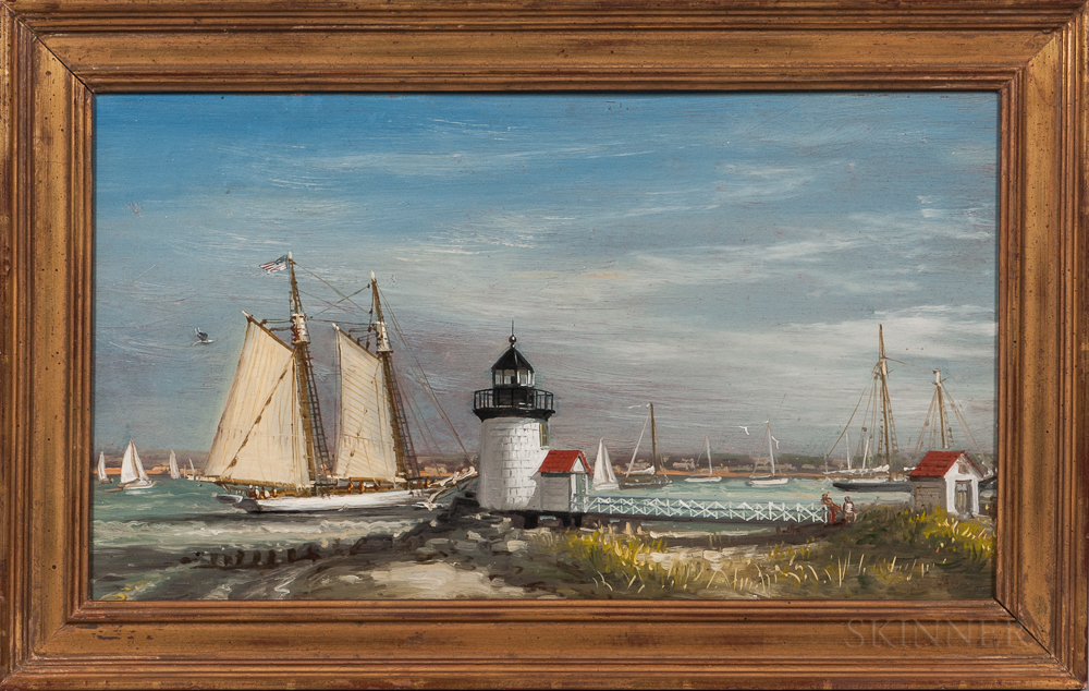 Peter Layne Arguimbau (New York/Connecticut/Italy, b. 1951)      Nantucket Harbor Scene
