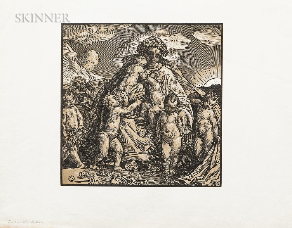 William Strang (Scottish, 1859-1921)      Illustrations for The Doings of Death  /A Portfolio of Twelve Works