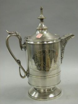 Victorian Silver Plated Ice Water Pitcher.