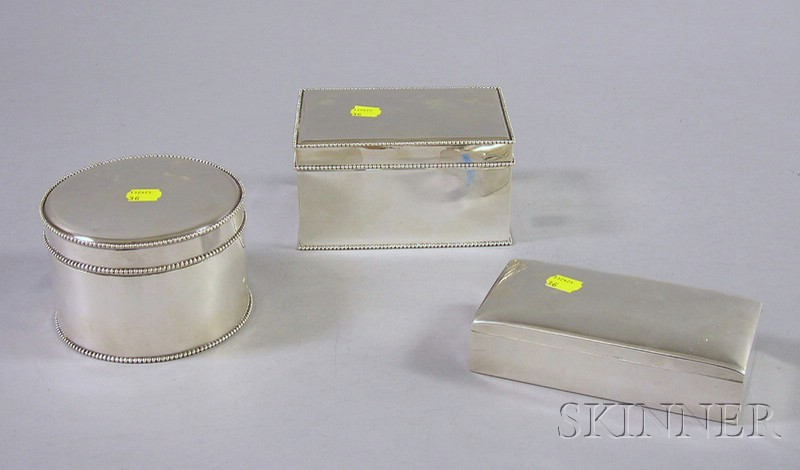 Three Sterling Boxes