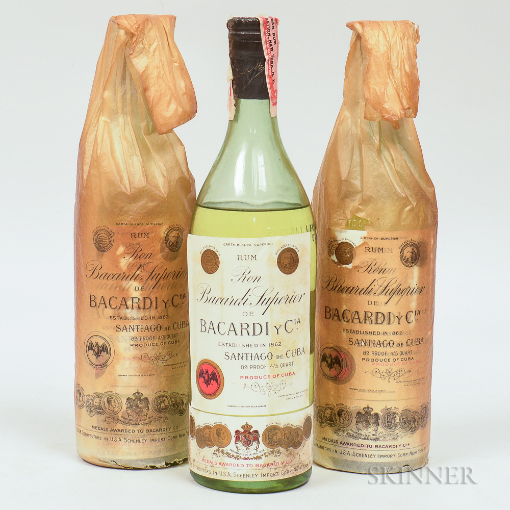 Bacardi Carta Blanco, 3 4/5 quart bottles