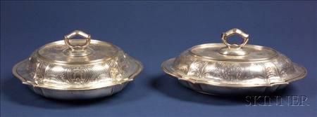 Two Tiffany & Company Sterling Covered Vegetable Dish