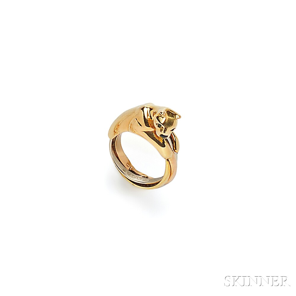 "18kt Gold ""Panthere"" Ring, Cartier"
