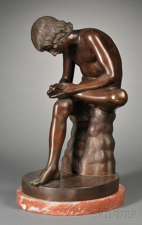Grand Tour Bronze Figure of The Spinario