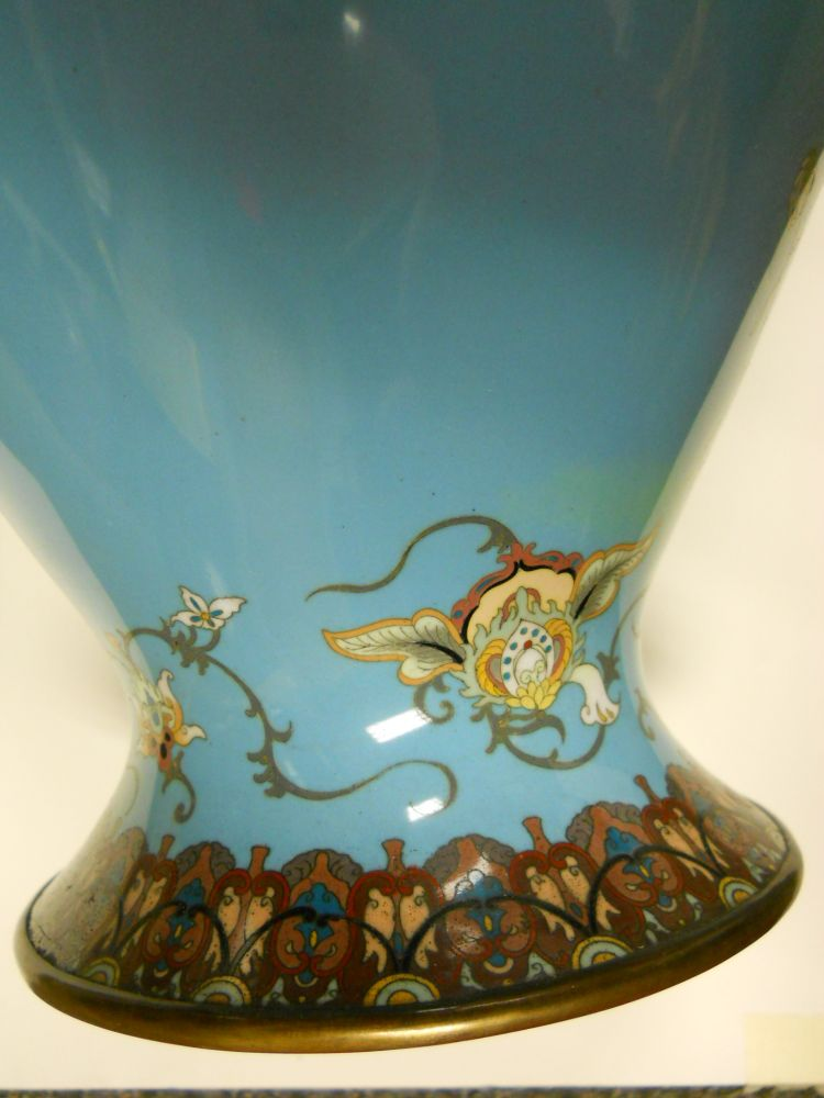 Pair of Large Cloisonne Vases