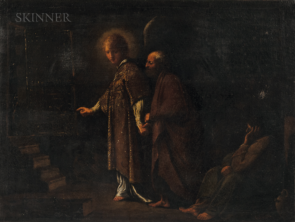 Italian School, 17th Century      Angel Leading St. Peter from Prison