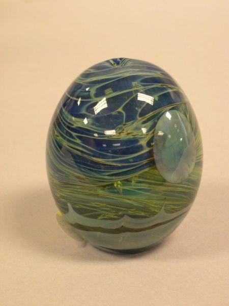 John Lewis Internally Decorated Art Glass Moon Vase Sale Number