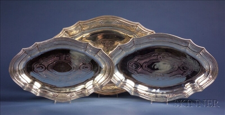 Nest of  Three Tiffany & Co. Sterling Platters