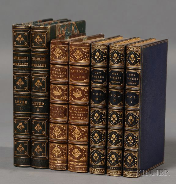 (Decorative Bindings), Four Titles in Seven Volumes