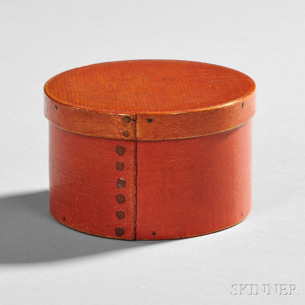 Small Shaker Bittersweet/Red-painted Maple and Pine Circular Gift Box