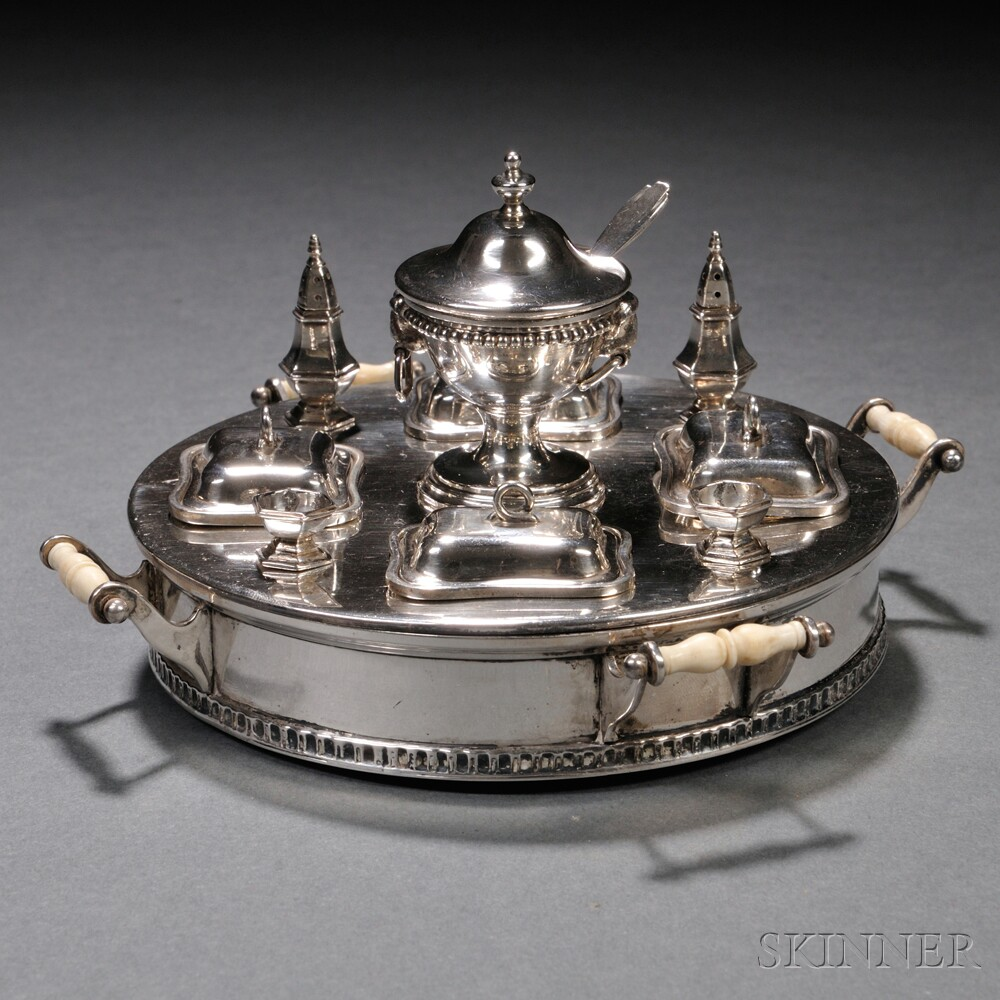 William B Meyers Miniature Sterling Silver Table Setting