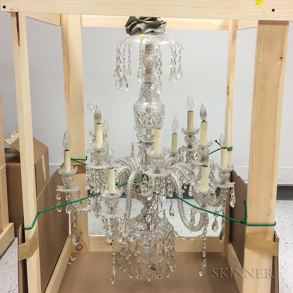 Colorless Cut Glass Twelve-light Chandelier
